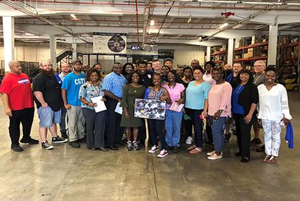 Herschel Walker, visits DLA Distribution Warner Robins, Georgia