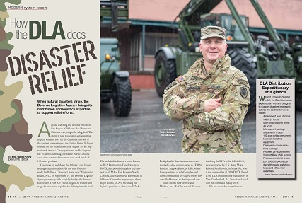 Modern Materials Handling magazine featured the DLA Distribution Expeditionary Team