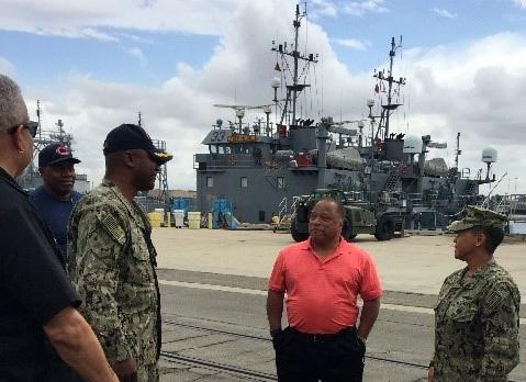Navy Region Southwest Commander Rear Adm. Bolivar visits