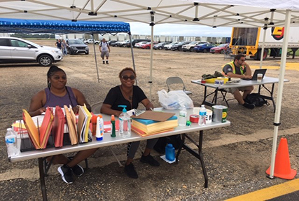 DLA Distribution Expeditionary on the ground at Maxwell Air Force Base in support of FEMA