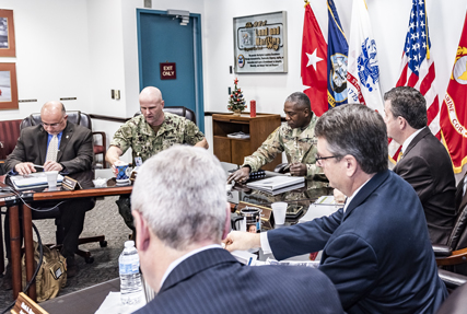 DLA Director visits Land and Maritime, reviews logistics operations plan