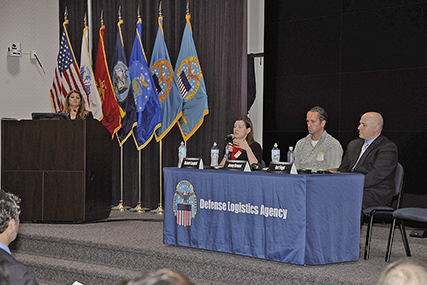 Panelists discuss labor trafficking during an awareness workshop held at Battle Creek's Hart-Dole-Inouye Federal Center Sept. 26.