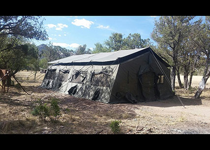 Tents provided by DLA Disposition Services' Reutilization, Transfer and Donation Program are now keeping a new educational program going in the Coronado National Forest in southern Arizona.