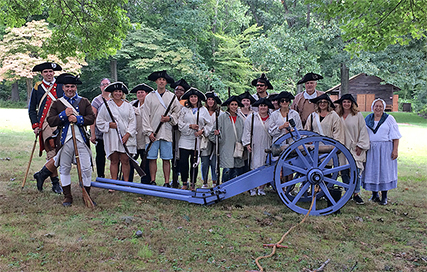 The U.S. Army's Old Guard excess materials are used to help teachers and youngsters reenact Revolutionary-era America in the Northeast.