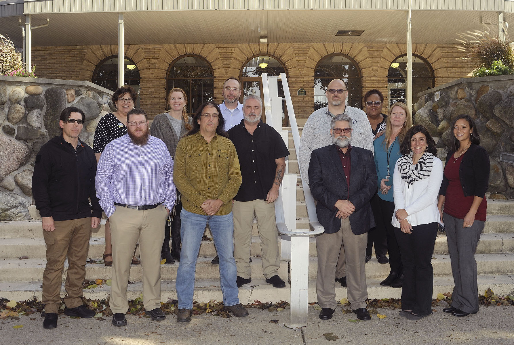 Group photo of the 13 members of the Defense Logistics Agency Disposition Services Culture Action Team.