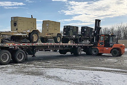 Generators are prepared for shipment to the Bahamas