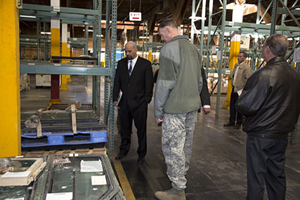 Defense Logistics Agency Director Air Force Lt. Gen. Andrew E. Busch visited DLA facilities aboard Marine Corps Logistics Base Barstow, Calif., Jan. 26.