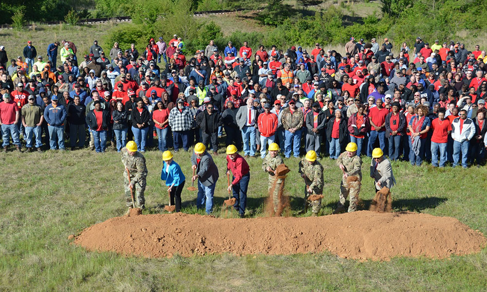 DLA Distribution Red River breaks ground on new general purpose warehouse