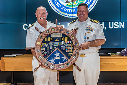 Family and friends – the theme of a 25-year Navy career