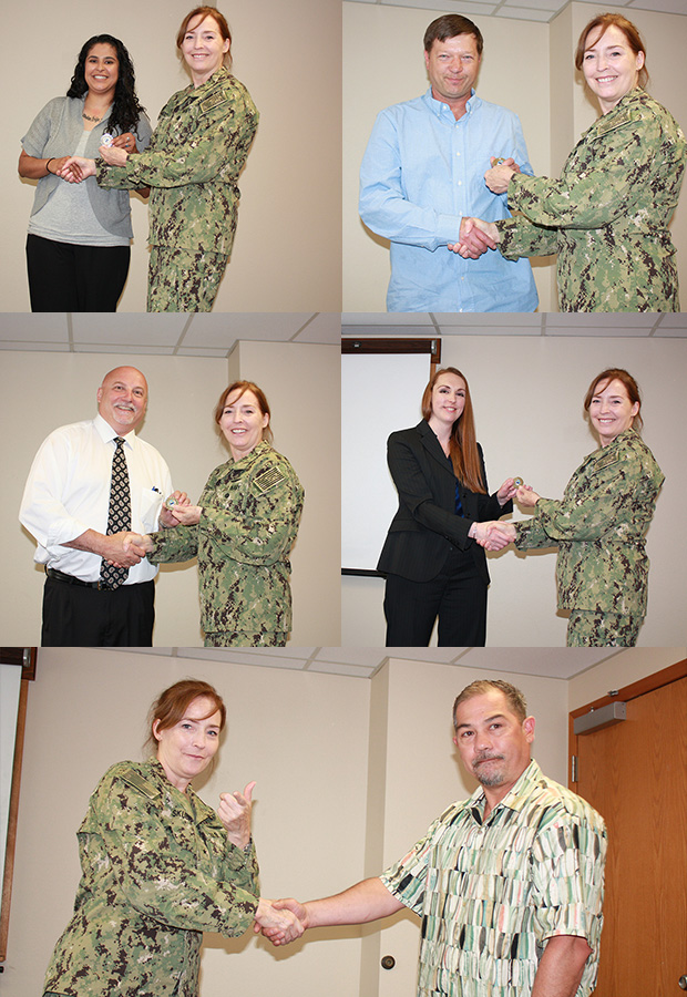 Puget Sound associates recieve commander's coins