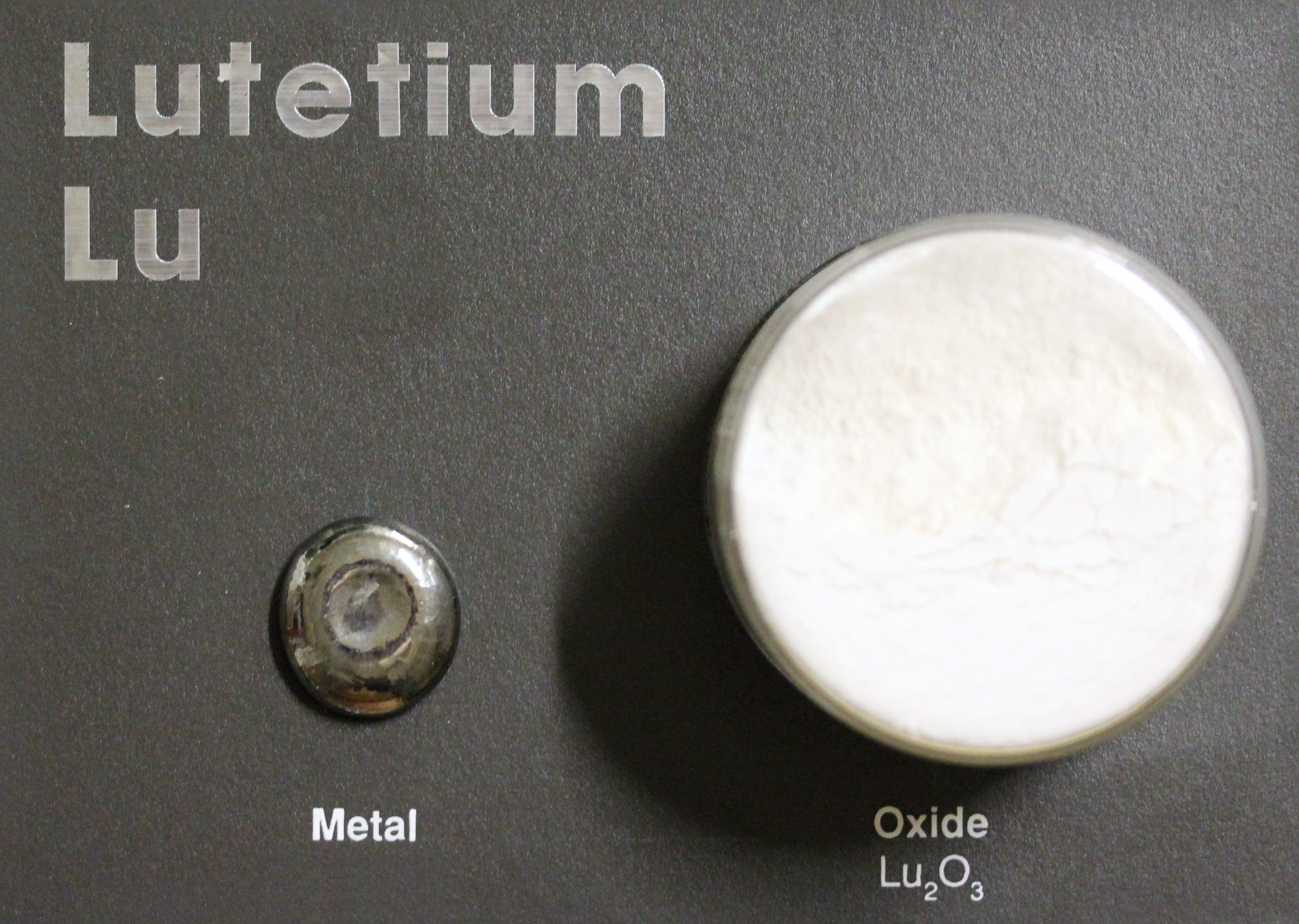 Lutetium metal and oxide