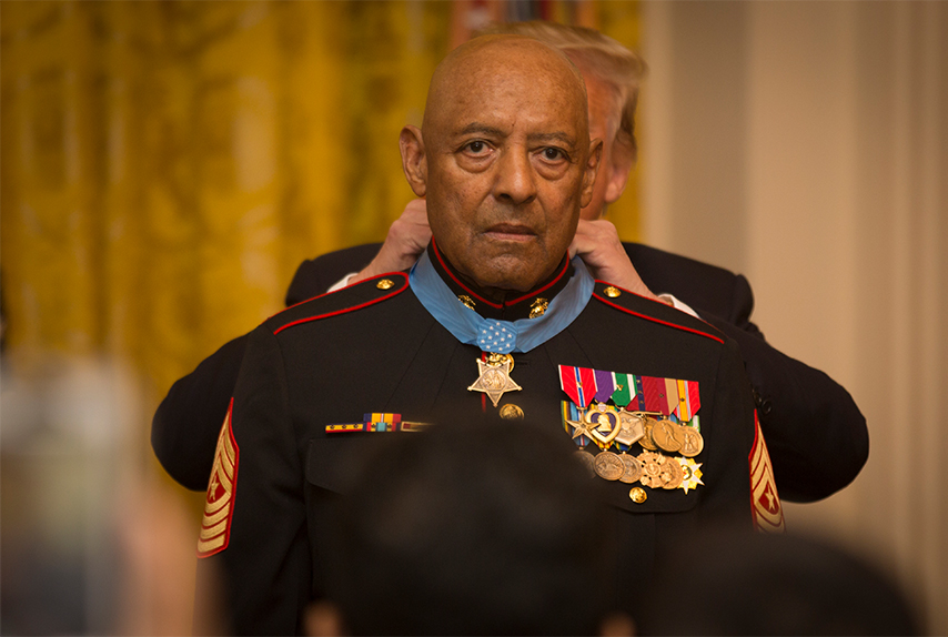 John Canley receives the Medal of Honor