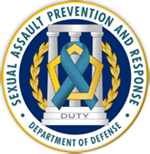 Graphic of DoD Sexual Assault Prevention and Response (SAPRO) Logo and link to the DoD SAPRO website
