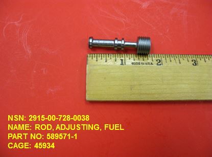 2915-007280038, P/N 589571-1: ROD, ADJUSTING, FUEL