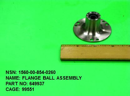 1560-008540260, P/N 649937: FLANGE BALL ASSEMBLY