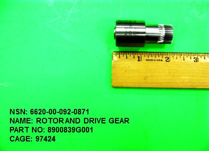 6620-000920871, P/N 8900839G001: ROTOR AND DRIVE GEAR