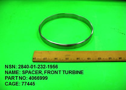 2840-012321956, P/N 4066999: SPACER, FRONT TURBINE