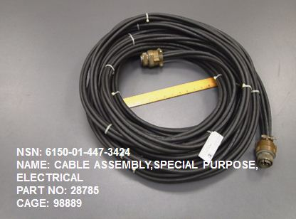 6150-014473424, P/N 28785 : CABLE ASSEMBLY, SPECIAL PURPOSE, ELECTRICAL