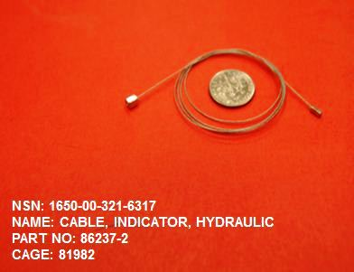 1650-003216317, P/N 86237-2 : CABLE, INDICATOR, HYDRAULIC