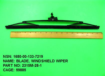1680-001337219, P/N 2315M-28-1 : BLADE, WINDSHIELD WIPER