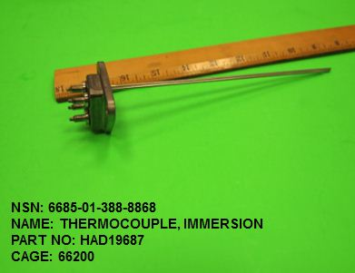 6685-013888868, P/N HAD19687 : THERMOCOUPLE, IMMERSION
