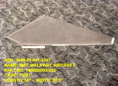 Main Photo - 1680-015413247, P/N 74B000053-203 : MAT, WALKWAY, AIRCRAFT
