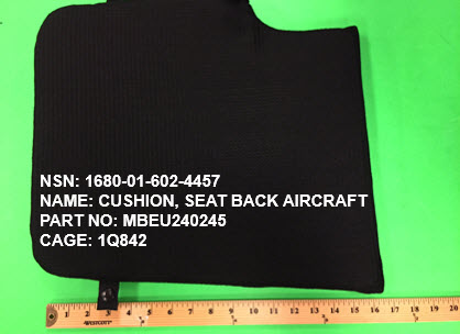1680-016024457, P/N MBEU240245 : CUSHION, SEAT BACK