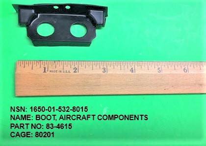 1650-015328015, P/N 83-4615 : BOOT, AIRCRAFT COMPONENTS