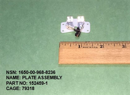 1650-009688236, P/N 152459-1 : PLATE ASSEMBLY