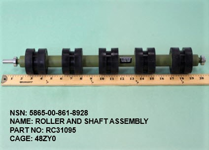 5865-008618928, P/N RC31095 : ROLLER AND SHAFT ASSEMBLY
