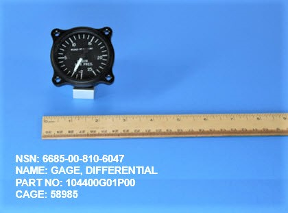 5585-008106047, P/N 104400G01P00 : GAGE, DIFFERENTIAL