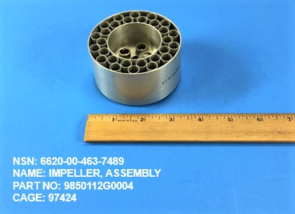 6620-004637489, P/N 9850112G0004 : IMPELLER, ASSEMBLY