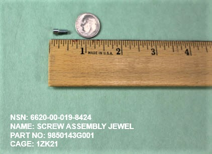 6620-000198424, P/N 9850143G001 : SCREW ASSEMBLY JEWEL