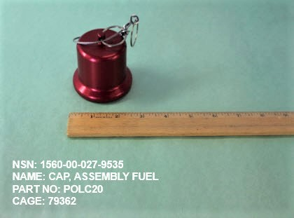 1560-000279535, P/N POLC20 : CAP, ASSEMBLY FUEL