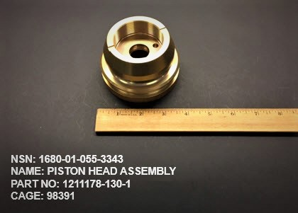 1680-010553343, P/N 1211178-130-1 : PISTON HEAD ASSEMBLY
