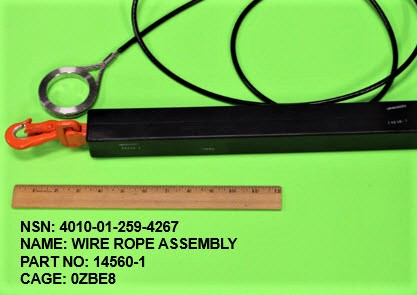 4010-012594267, P/N 14560-1 : WIRE ROPE ASSEMBLY