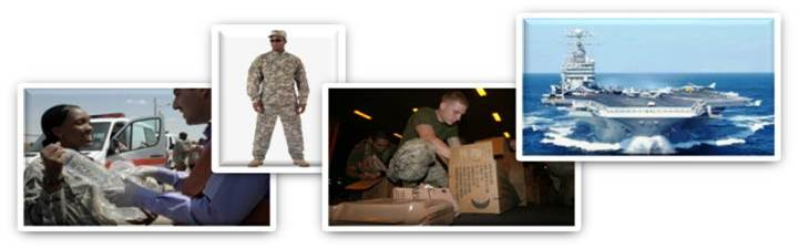 Images of DLA employees helping out with Distribution