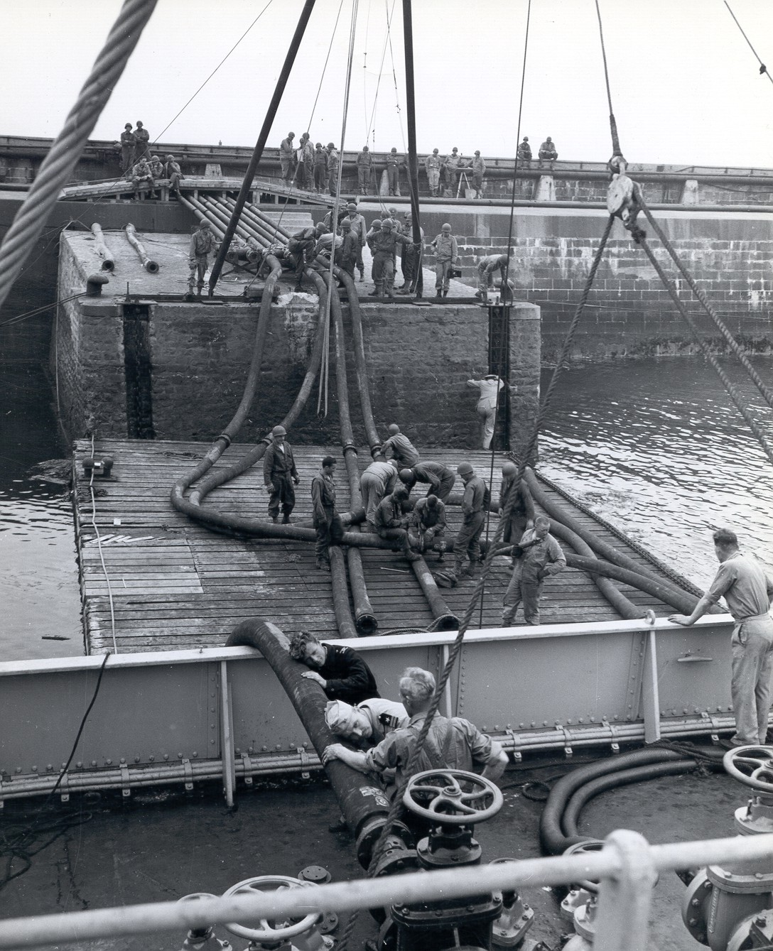 Historic ship refueling