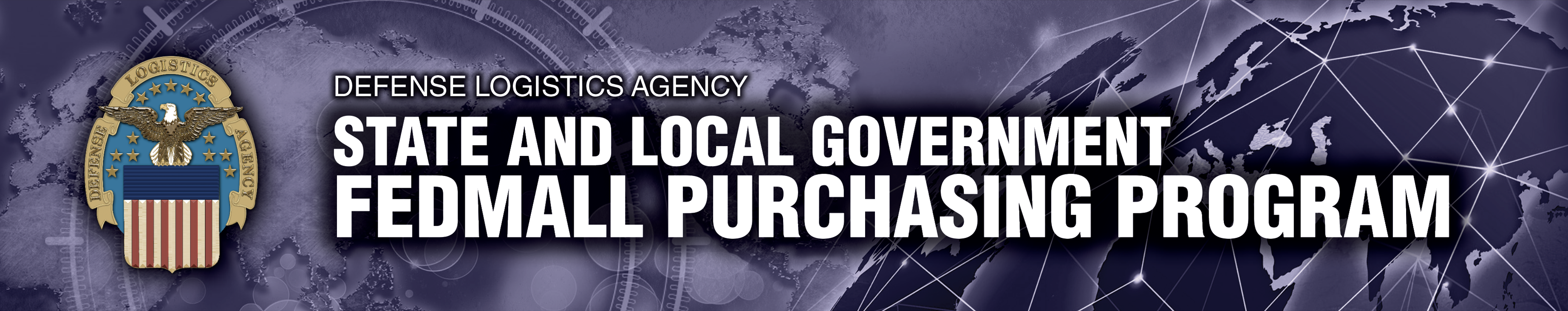 Banner text says Defense Logistics Agency State and Local Government Federal Purchasing Program