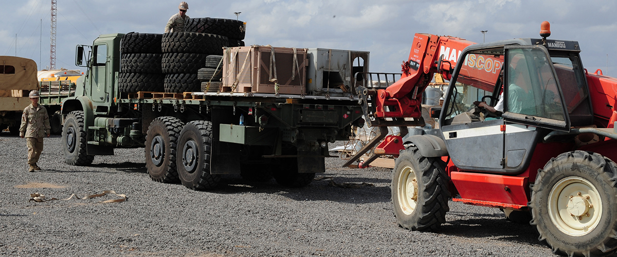 Disposing of military equipment, like tires, is one of the services DLA offers