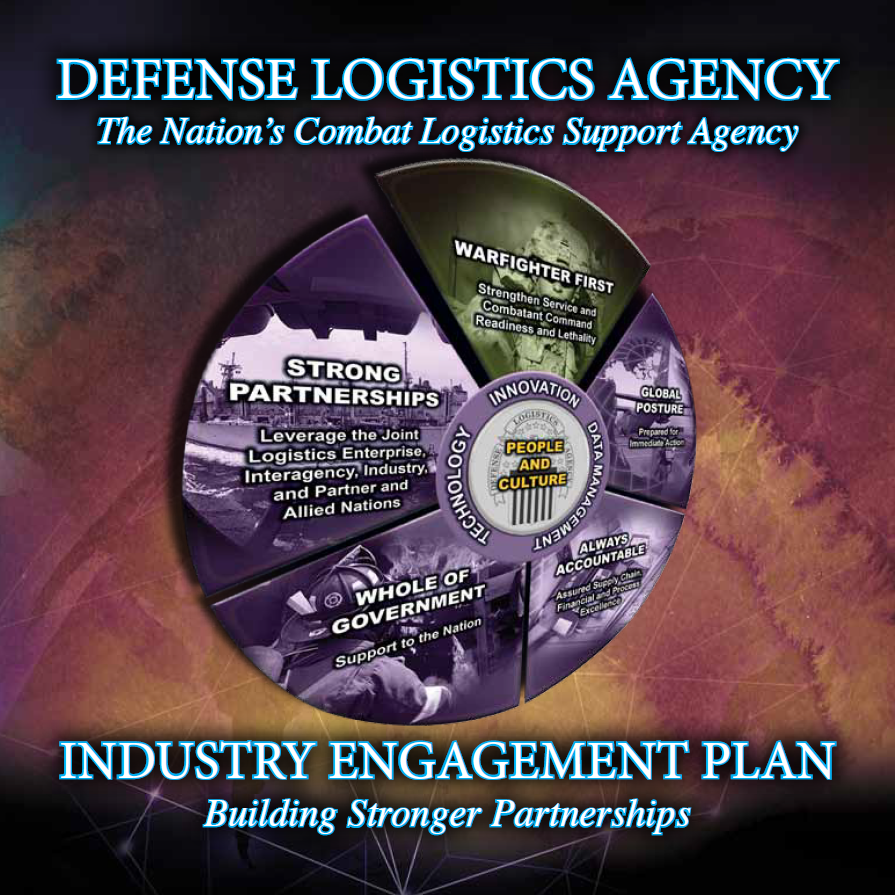 Cover image of the DLA Industry Engagement Plan