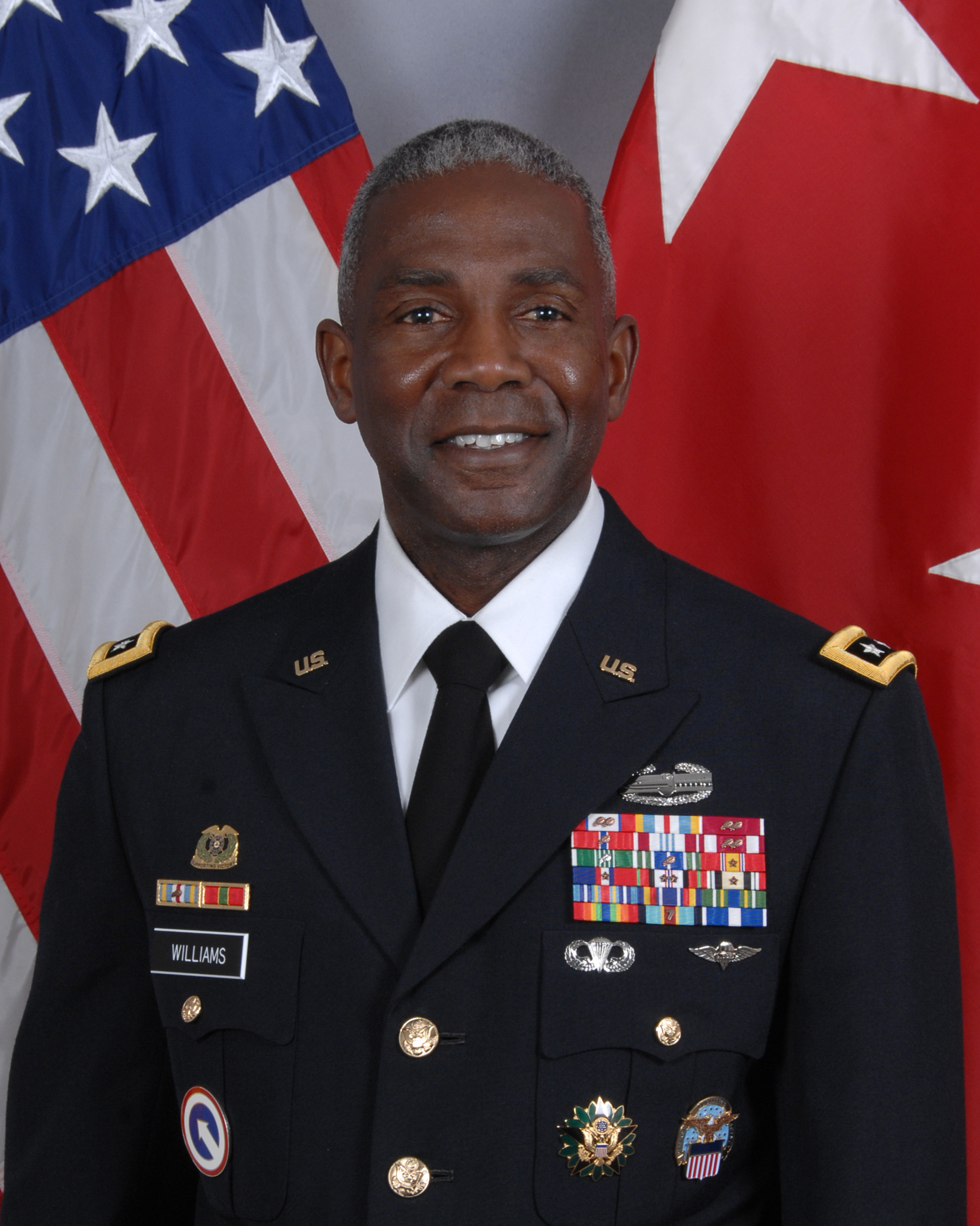 A portrait of DLA Director Lieutenant General Darrell K. Williams