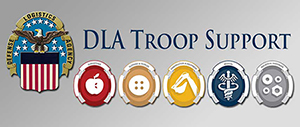 DLA Troop Support's five supply chains are represented by emblems