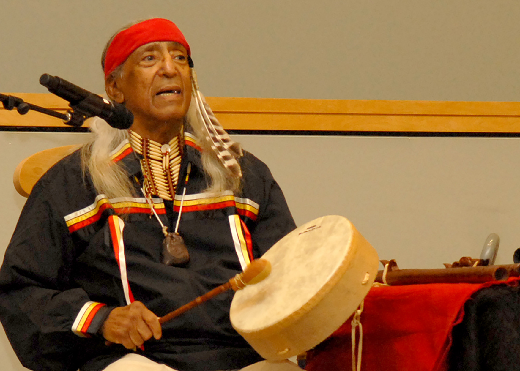 American Indian speaker encourages unity and acceptance of all people