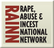 Graphic of Rape, Abuse & Incest National Network (RAINN) and link to the RAINN website